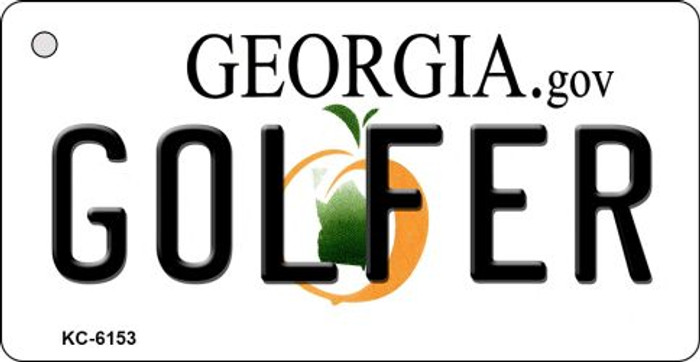Golfer Georgia State License Plate Novelty Key Chain KC-6153