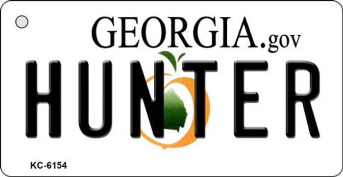 Hunter Georgia State License Plate Novelty Key Chain KC-6154