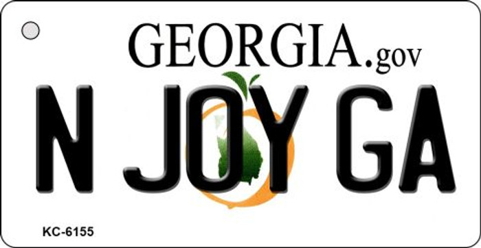 N Joy GA Georgia State License Plate Novelty Key Chain KC-6155