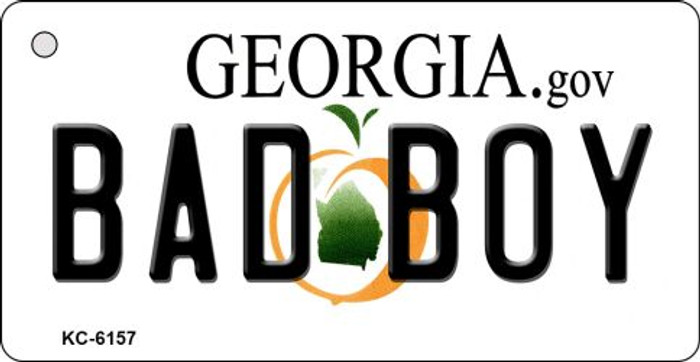 Bad Boy Georgia State License Plate Novelty Key Chain KC-6157