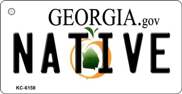 Native Georgia State License Plate Novelty Key Chain KC-6158