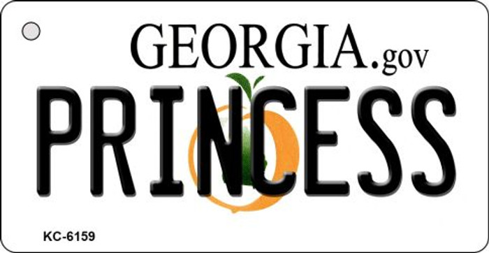Princess Georgia State License Plate Novelty Key Chain KC-6159