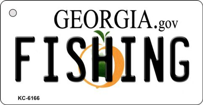Fishing Georgia State License Plate Novelty Key Chain KC-6166