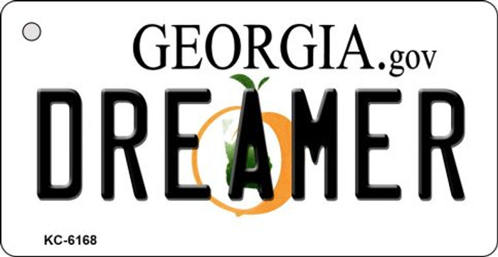 Dreamer Georgia State License Plate Novelty Key Chain KC-6168