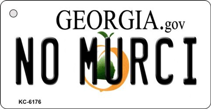 No Murci Georgia State License Plate Novelty Key Chain KC-6176
