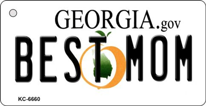 Best Mom Georgia State License Plate Novelty Key Chain KC-6660