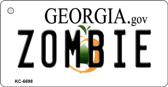 Zombie Georgia State License Plate Novelty Key Chain KC-6698