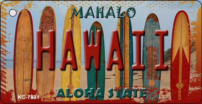 Hawaii Surboards Novelty Metal Key Chain KC-7831