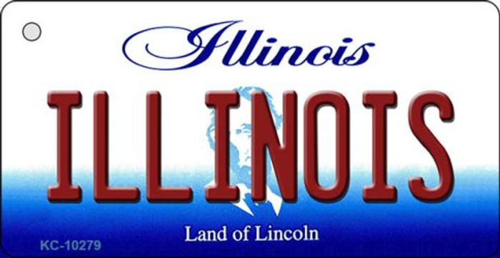 Illinois State License Plate Key Chain KC-10279