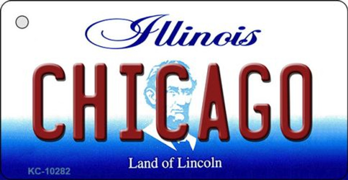 Chicago Illinois State License Plate Key Chain KC-10282