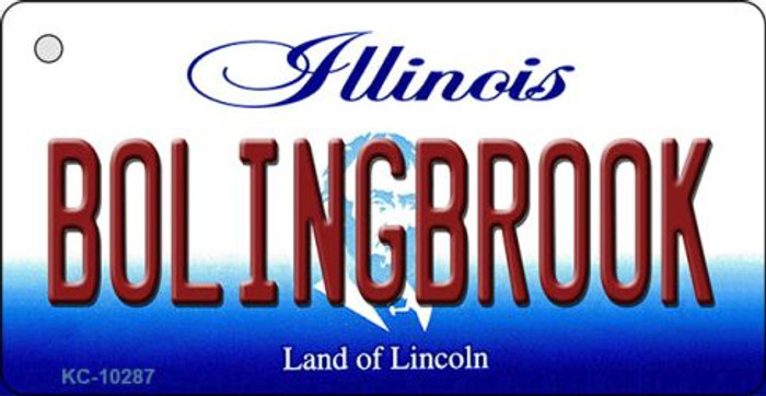Bolingbrook Illinois State License Plate Key Chain KC-10287