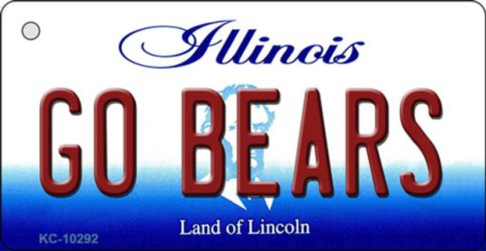 Go Bears Illinois State License Plate Key Chain KC-10292