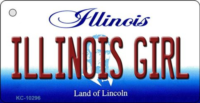 Illinois Girl State License Plate Key Chain KC-10296