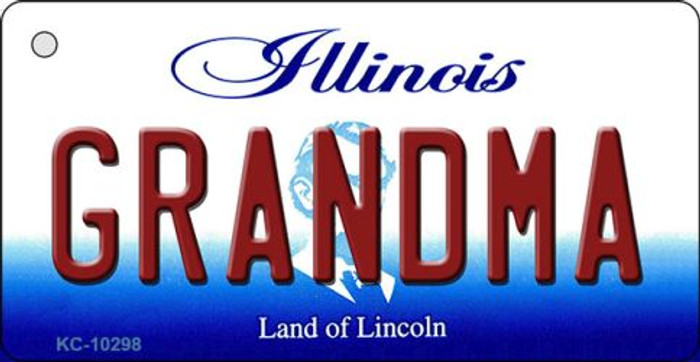 Grandma Illinois State License Plate Key Chain KC-10298