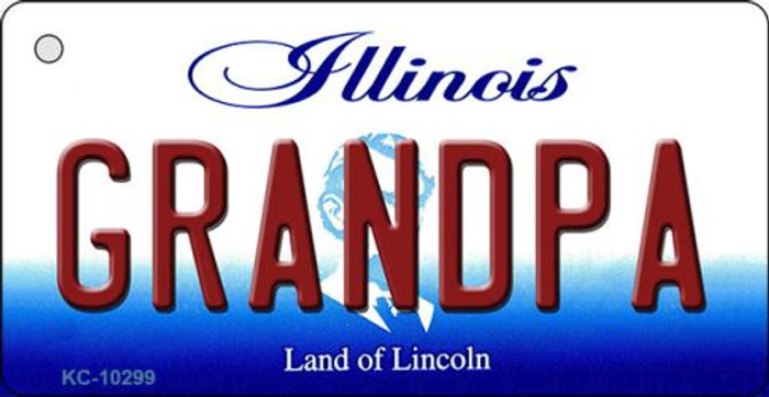 Grandpa Illinois State License Plate Key Chain KC-10299