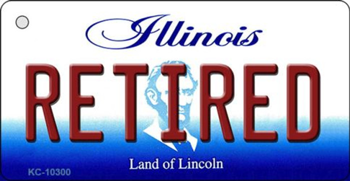 Retired Illinois State License Plate Key Chain KC-10300