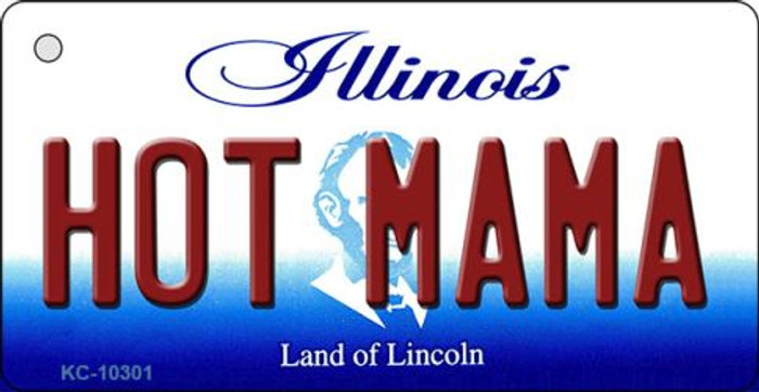 Hot Mama Illinois State License Plate Key Chain KC-10301