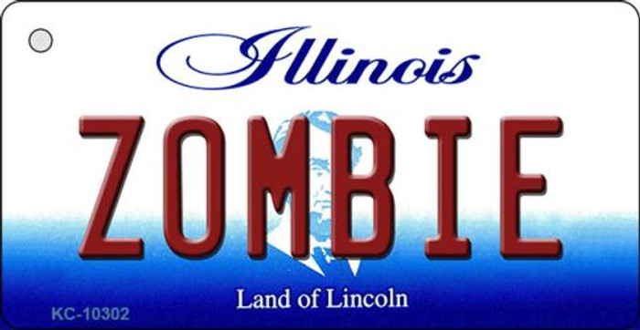 Zombie Illinois State License Plate Key Chain KC-10302
