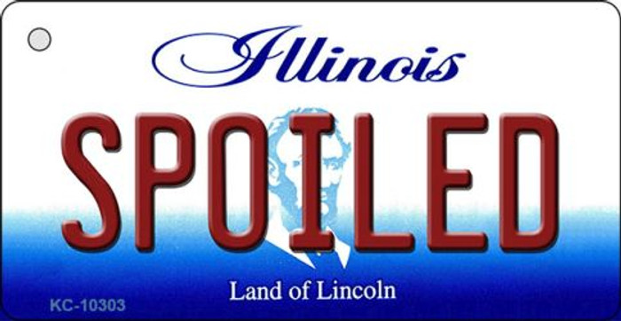 Spoiled Illinois State License Plate Key Chain KC-10303