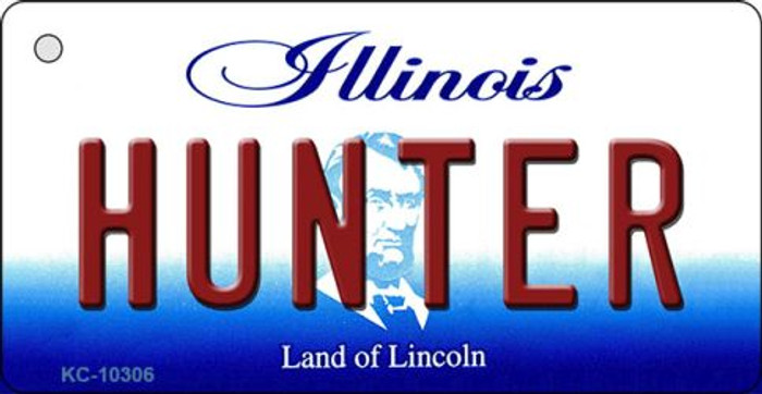 Hunter Illinois State License Plate Key Chain KC-10306