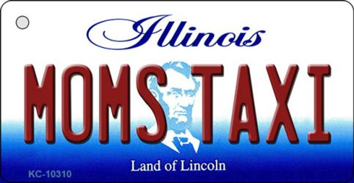 Moms Taxi Illinois State License Plate Key Chain KC-10310
