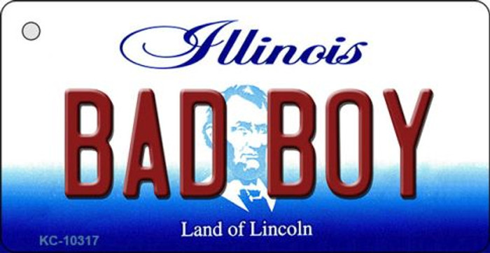 Bad Boy Illinois State License Plate Key Chain KC-10317