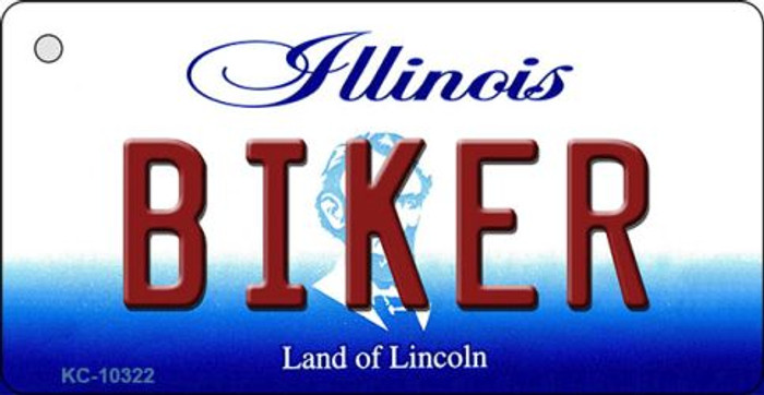Biker Illinois State License Plate Key Chain KC-10322