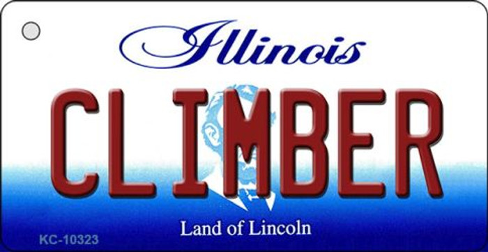 Climber Illinois State License Plate Key Chain KC-10323