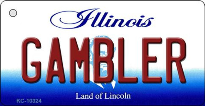 Gambler Illinois State License Plate Key Chain KC-10324