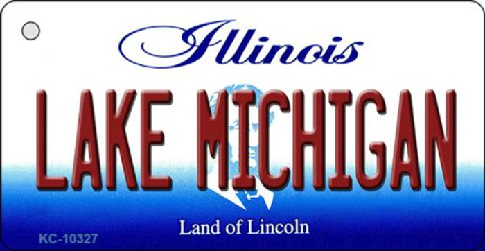 Lake Michigan Illinois State License Plate Key Chain KC-10327