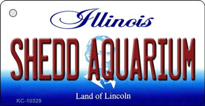 Shedd Aquarium Illinois State License Plate Key Chain KC-10329