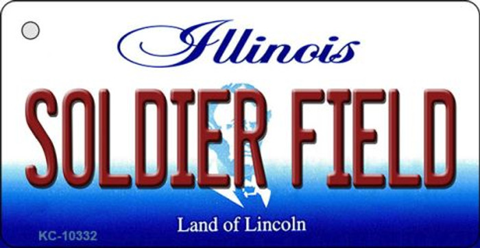 Soldier Field Illinois State License Plate Key Chain KC-10332