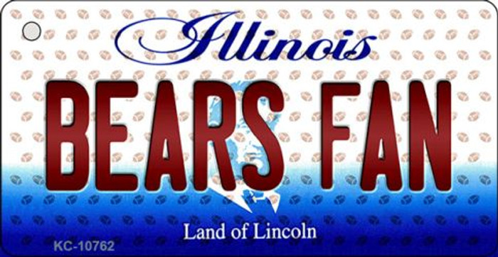 Bears Fan Illinois State License Plate Key Chain KC-10762
