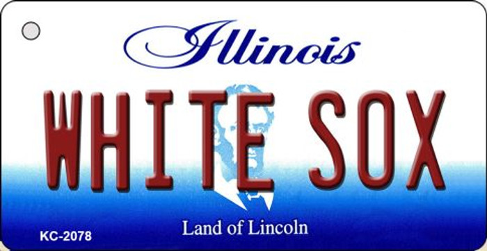 White Sox Illinois State License Plate Key Chain KC-2078