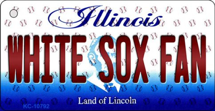 White Sox Fan Illinois State License Plate Key Chain KC-10792