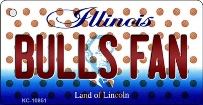 Bulls Fan Illinois State License Plate Key Chain KC-10851
