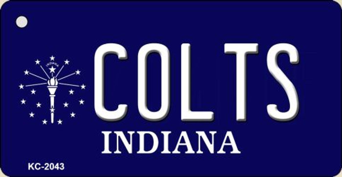 Colts Indiana State License Plate Key Chain KC-2043