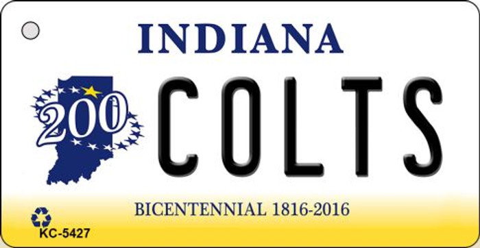 Colts Indiana State License Plate Key Chain KC-5427