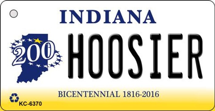 Hoosier Indiana State License Plate Novelty Key Chain KC-6370