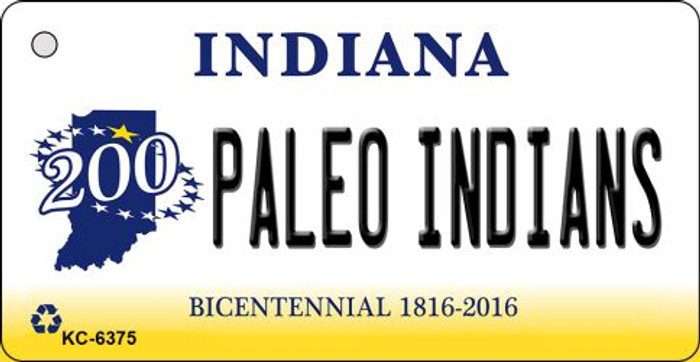 Paleo Indians Indiana State License Plate Novelty Key Chain KC-6375