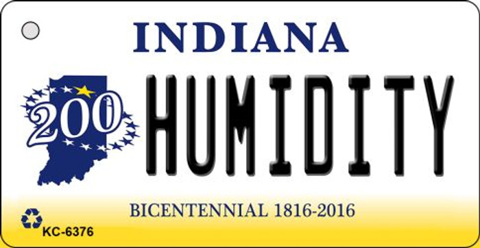 Humidity Indiana State License Plate Novelty Key Chain KC-6376