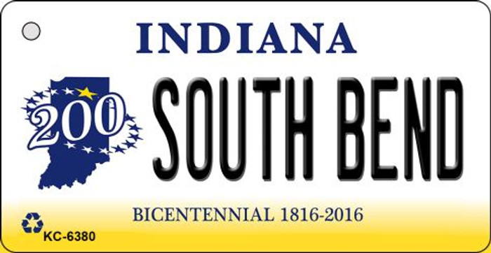 South Bend Indiana State License Plate Novelty Key Chain KC-6380