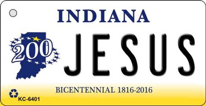 Jesus Indiana State License Plate Novelty Key Chain KC-6401
