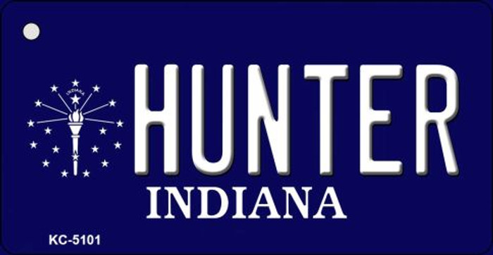 Hunter Indiana State License Plate Novelty Key Chain KC-5101
