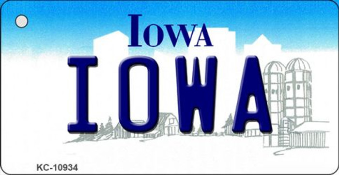Iowa State License Plate Novelty Key Chain KC-10934