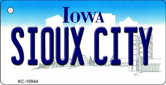 Sioux City Iowa State License Plate Novelty Key Chain KC-10944
