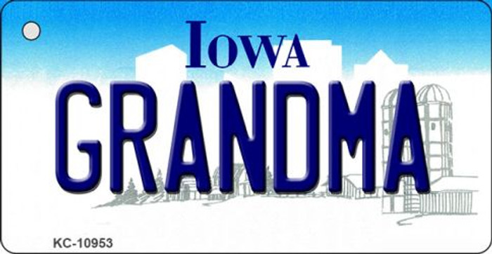 Grandma Iowa State License Plate Novelty Key Chain KC-10953