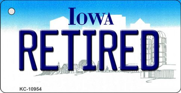 Retired Iowa State License Plate Novelty Key Chain KC-10954