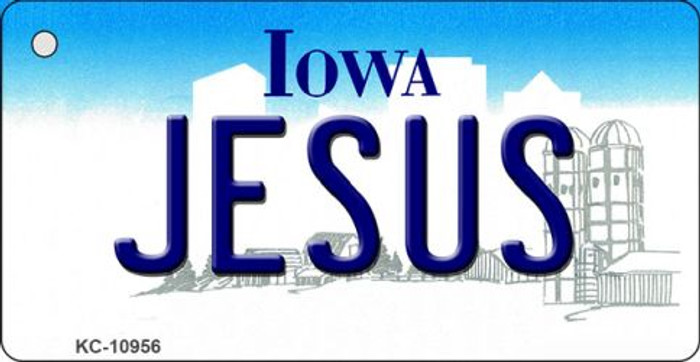 Jesus Iowa State License Plate Novelty Key Chain KC-10956