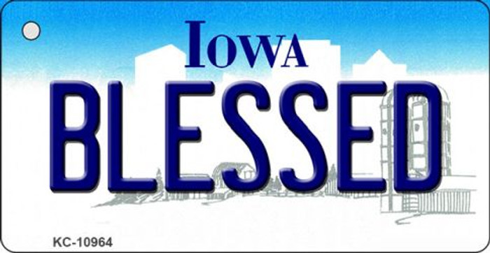 Blessed Iowa State License Plate Novelty Key Chain KC-10964